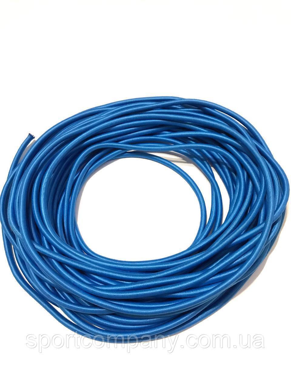 Жгут спортивный резиновый в тканевой оплетке ( резина, d-8 мм, I-400 см, голубой ) rez.zhyt8blue