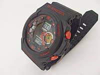 Мужские часы Casio G-Shock GA-150 5255 черные с красным водонепроницаемые