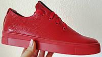 Gucci! Красные красивые кожаные кеды мокасины женские слипоны в стиле Гуччи