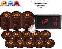 Комплект супер тонких кнопок вызова официанта на 25 столов c приемником RECS №100