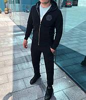 Мужской спортивный  костюм стильный  с капюшоном Philipp Plein Филип плейн (реплика)