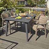 Комплект садових меблів TISARA WITH LIMA графіт (Keter), фото 5