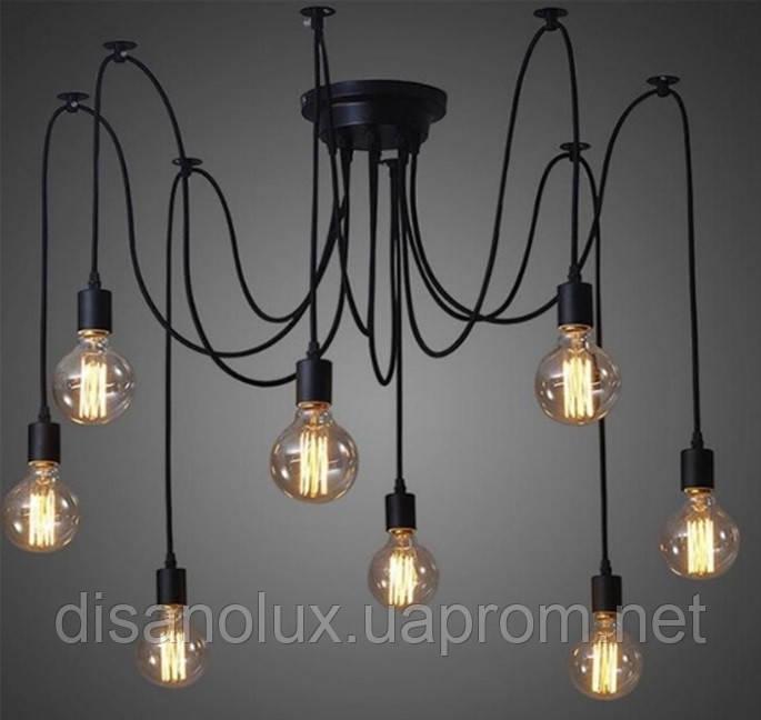 Cветильник Loft подвесной NL 149-8 Е27 BLACK