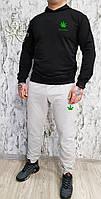 Мужской спортивный костюм, чоловічий костюм (Худи+штаны) Марихуана S359, Реплика