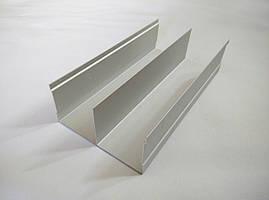 Рельс направляющая верх+низ серебро