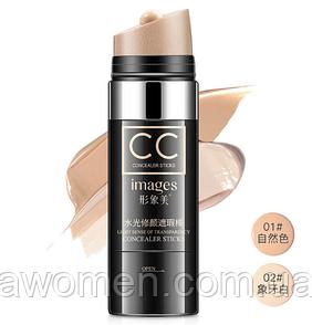 Тональный CC крем Cream Images с мягким спонжем 30 ml № 1 (Natural)