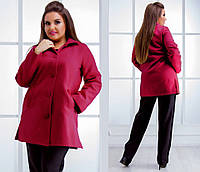 3c84935c0de Женское короткое пальто демисезон в батальных размерах 252