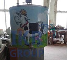 Холодильник для молока Б/У  на 200 литров открытого типа / Охолоджувач для молока