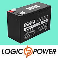 Аккумулятор кислотный AGM LogicPower А 12V 7AH - Гарантия 6 месяцев