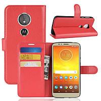 Чехол-книжка Litchie Wallet для Motorola Moto E5 / G6 Play Красный