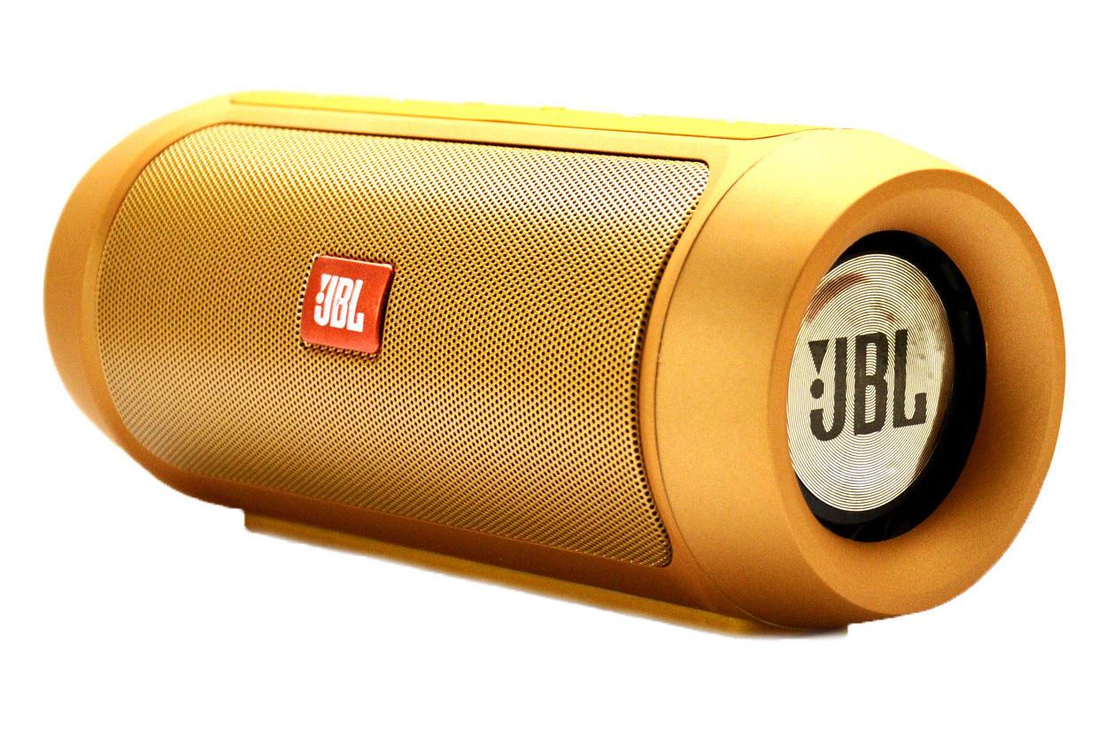 JBL Charge 2 Plus Золотая Bluetooth стерео колонка с USB и MicroSD