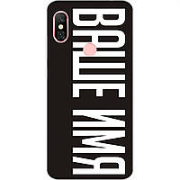 Именной чехол для Xiaomi Redmi Note 6 Pro Бампер с именем