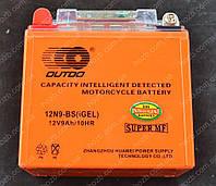 Аккумулятор 12V 9Аh гелевый (135x75x135, c датчиком, mod:12N9L-BS  OUTDO, фото 1