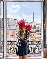 Картина по номерам Мадмуазель Париж (40 х 50 см, без коробки)