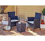 Комплект садових меблів MONTANA IOWA BALCONY SET графіт (Keter), фото 2