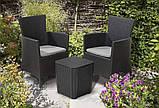Комплект садових меблів MONTANA IOWA BALCONY SET графіт (Keter), фото 5