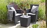 Комплект садових меблів MONTANA IOWA BALCONY SET графіт (Keter), фото 7