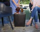 Комплект садових меблів MONTANA IOWA BALCONY SET графіт (Keter), фото 9