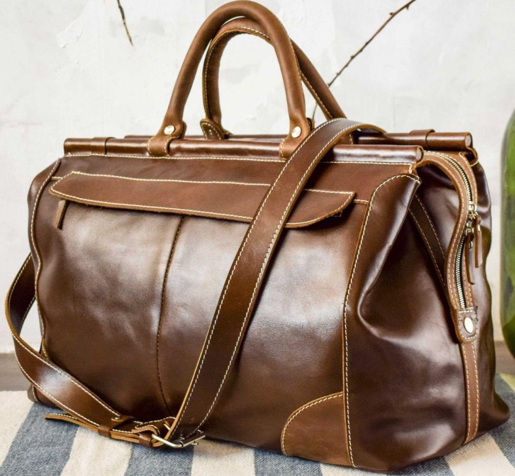 Саквояж Babak 702083/51 кожаный 26 л, коричневый орех