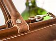 Саквояж Babak 702083/51 кожаный 26 л, коричневый орех, фото 5