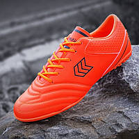 Сороконожки, бампы, кроссовки для футбола оранжевые, футбольная обувь, удобные прошитый носок (Код: Б1399)