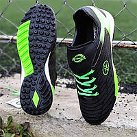 Мужские сороконожки Tiempo, бампы, кроссовки для футбола черные для зала для улицы, прочные (Код: Т1401а)