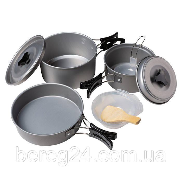 Посуда туристическая алюминевая на 3 человека DS-300