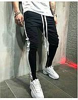 Мужские спортивные штаны, чоловічі спортивні штани с лампасами H148, Реплика