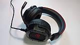 Навушники професійні ігрові з мікрофоном та підсвіткою HAVIT HV-H2006U, 7.1 USB, black, фото 8