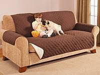 Покрывало-накидка на диван двустороннее Couch Coat Коричневый