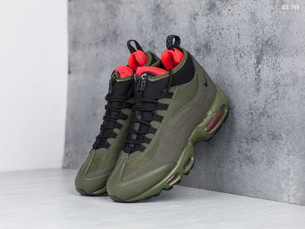 promo code 7f26b a704b Зимние кроссовки Nike Air Max 95 Sneakerboot (зеленые) ЗИМА