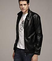 Куртка черная из искусственной кожи