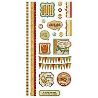 Наклейки We R Memory Keepers - Hall Pass Embossed Stickers 42270-9