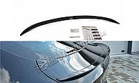 Cпойлер багажника (сабля, утиный хвостик, лип спойлер) BMW X6 F16 2014+ г.в. ABS пластик, фото 1
