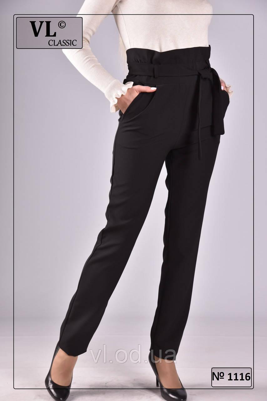 e2772c3c9fb6 Женские брюки с завышенной талией, чёрные. - Bigl.ua