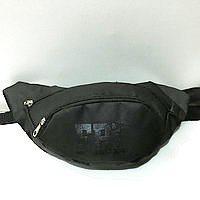 Спортивная сумка на пояс текстиль на 2отд. FBI (черный)16*36см