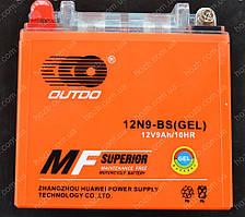 Аккумулятор 12V 9Аh гелевый (135x75x135, mod:12N9-BS  OUTDO