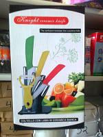 Керамические ножи на подставке 3шт.+овощечистка оптом