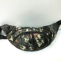 Спортивная сумка на пояс текстиль на 2отд. Adidas (темный камуфляж)16*36см
