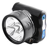 Налобный фонарь на аккумуляторе YJ-1829-5/ 5 LED (120 шт/ящ), фото 3