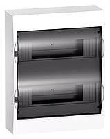 Щит розподільчий навісний, білий, двері прозора на 24 модуля IP40, Schneider Electric Easy9