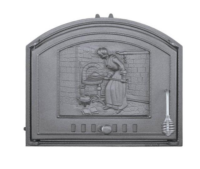 Чугунные дверцы в камин печь без стекла