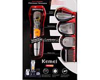 Машинка для стрижки / бритва KEMEI MP5580 / KM580A 7 в 1, Три насадки для стрижки (3 мм, 6 мм, 10 мм), до 40 минут непрерывной работы, стрижка,