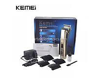 Машинка для стрижки / бритва KEMEI KM5017, встроенный аккумулятор, 4 насадки, стрижка, электробритва