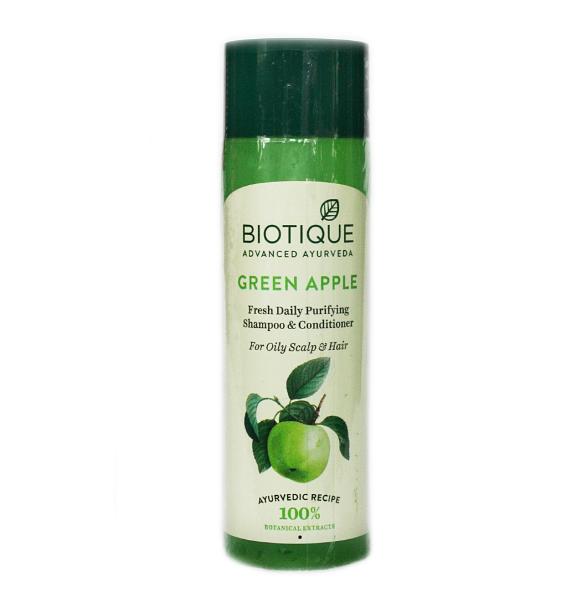 Шампунь-кондиционер для жирных волос Био Зеленое яблоко Biotique Green Apple Fresh Daily Purifying