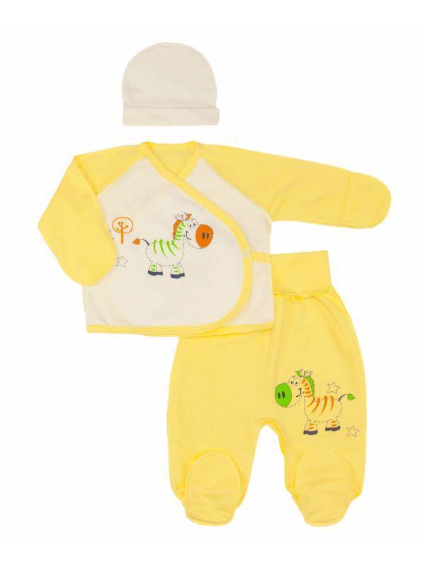 Комплект для новорожденных унисекс с начесом