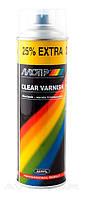 Лак акриловый Motip Clear Varnish универсальный прозрачный глянец 500мл.