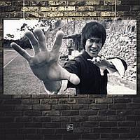 Постер Bruce Lee, Брюс Ли. Размер 60x34см (A2). Глянцевая бумага