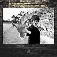 Постер Bruce Lee, Брюс Ли. Размер 60x42см (A2). Глянцевая бумага