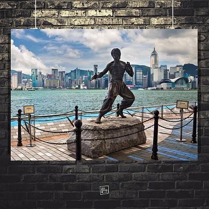 Постер Bruce Lee, Брюс Ли (статуя). Размер 60x40см (A2). Глянцевая бумага, фото 2
